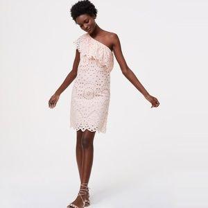 Loft Eyelet One Shoulder Dress